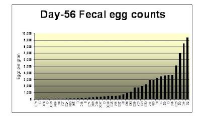 d-56 Fecal egg counts
