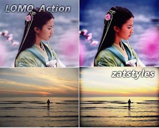 Lomoz Photoshop Action