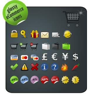 glossy ecommerce icons