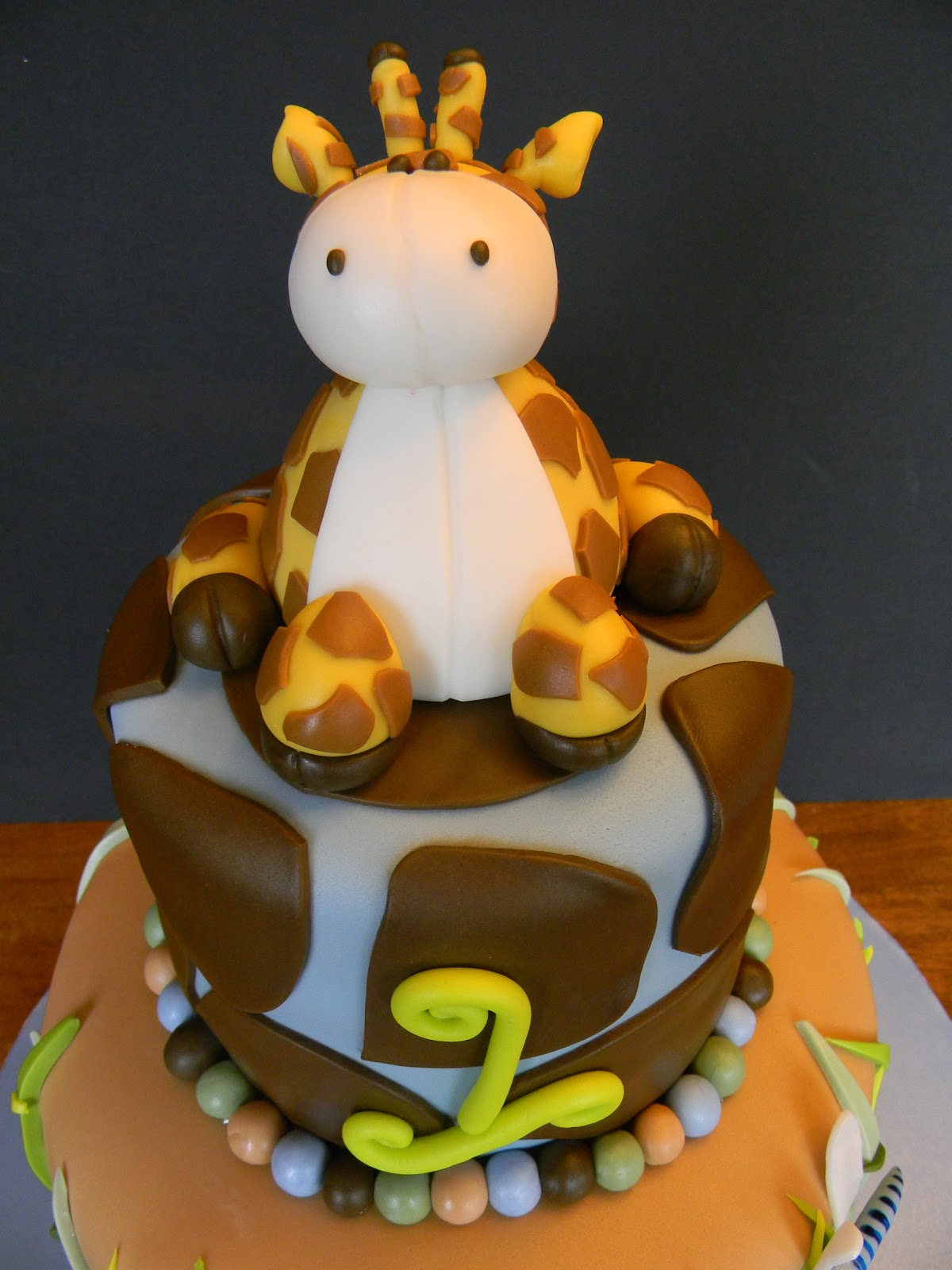 Couture Cakes By Angela A Baby Giraffe For Caleb S 1st