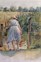 Mrs. Bryner in her Garden