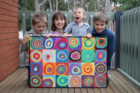 In All Honesty Kids Art Projects Kandinsky Circles Squares
