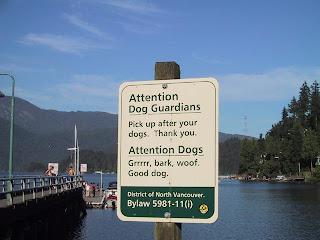 funny sign - attention dogs