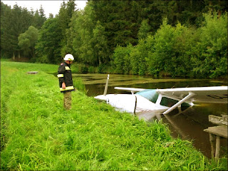 an aircraft in water