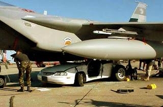 military aircraft n a car