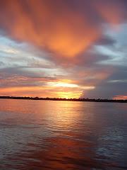 Solnedgang over Amazonas
