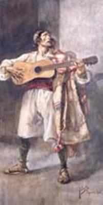 Valenciano con Guitarra, Joaquín Sorolla, Joaquín Sorolla Bastida, Joaquín Sorolla Bastida, Retratos de Joaquín Sorolla, Joaquín Sorolla, Pintor español, Retratista español, Pintores Valencianos