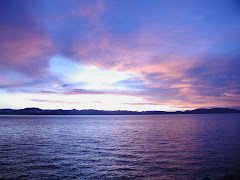 summer sunset on lake tahoe
