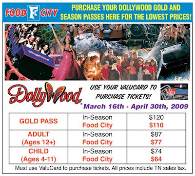 Dollywood Passes At Food City
