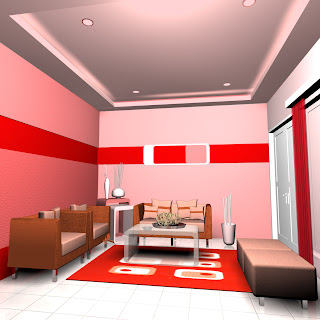 Interior Ideas Monokromatis Merah Budaya Indonesia