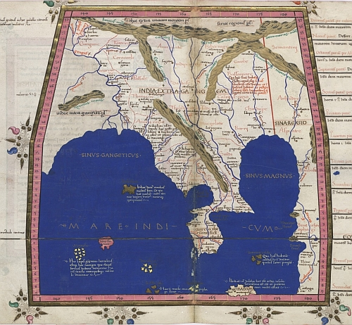 Ptolemy map of South East Asia 1467