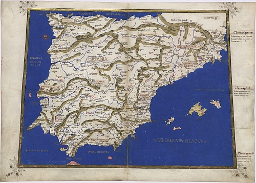 1467 map of Spain and Portugal