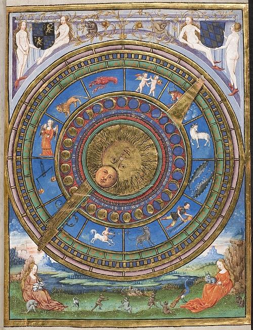 Geomantie manuscript decoration