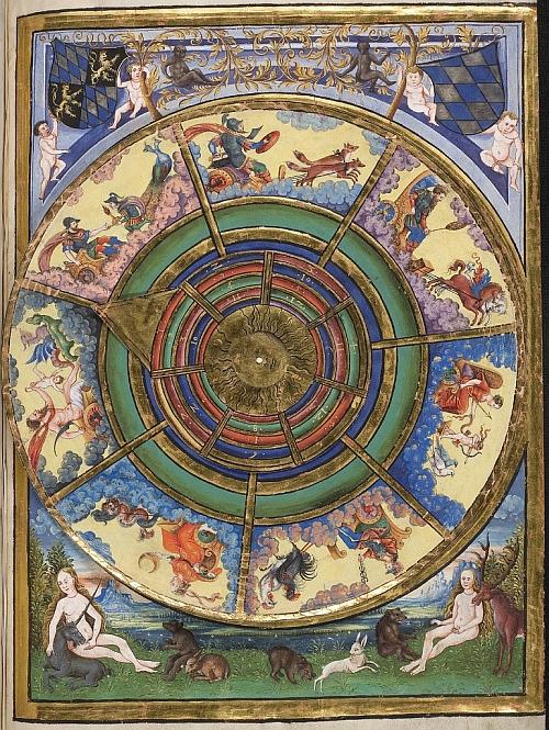 Geomantie manuscript volvelle