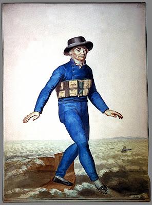 Homme à la ceinture de sauvetage