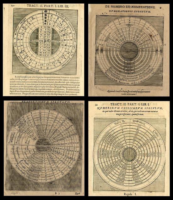 Mathematical Maps - Pars I Liber Nonus p150 - Pars I Liber Primus p9 - Pars I Liber Primus p13 - Pars I Liber Primus p20