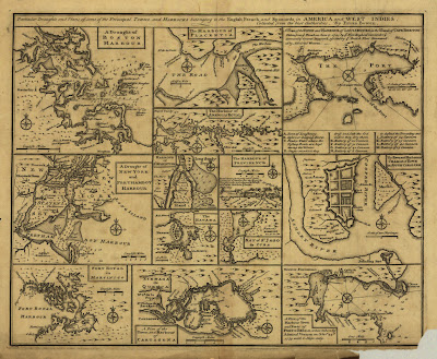13 maps in one print from 1752