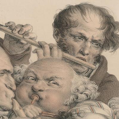 Louis-Léopold Boilly - 'Le Concert' (detail)
