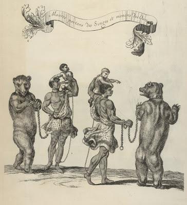 Mores portans des singes, et menans des ours