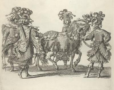Estafiers, cheval de main, et palfreniers persans