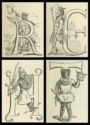 Leech caricature lettrines