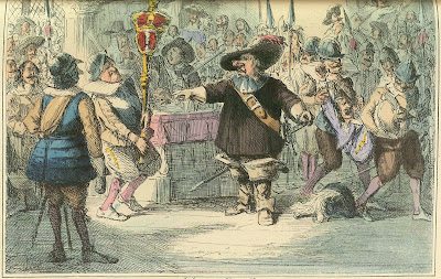 Cromwell dissolving the Long Parliament
