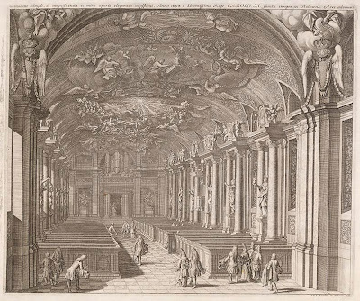 Swedish church interior from 1694