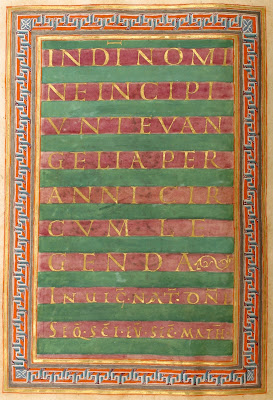 illuminated manuscript - carolingian miniscule