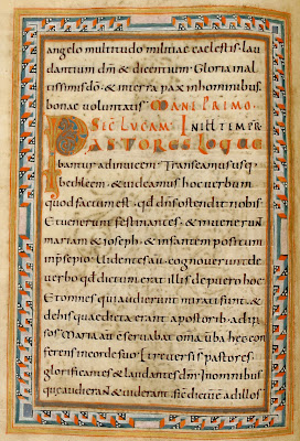 carolingian miniscule from 10th century gospel manuscript
