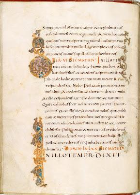 carolingian script from reichenau monastery manuscript
