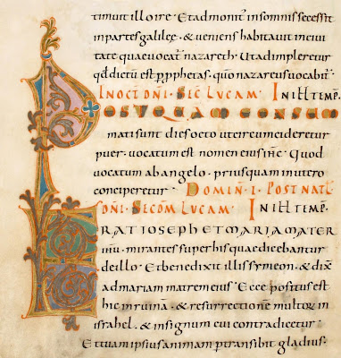 decorated letters in german codex