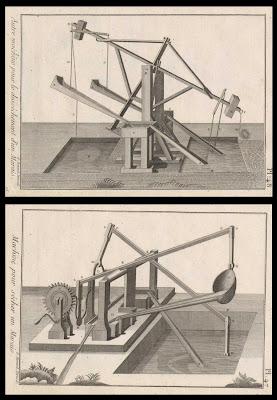 Une machine pour sécher un marais et une autre machine pour le séchage d'un marais