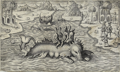 South American Natives on Sea Monster