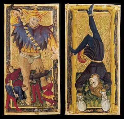 Tarot Cards - Le Fou and La Pendu