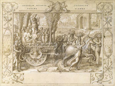 Nicolo dell'Abate sketch - The Unicorn Chariot