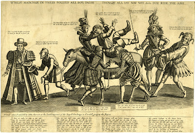Riding of the Ass - satirical print from England