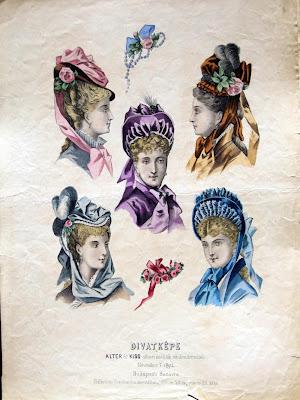 Hungarian bonnets - 1870s