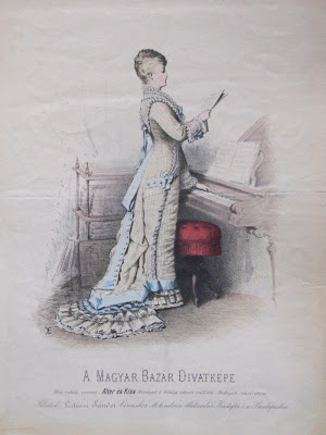 Woman at Piano - fashion plate