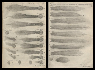 comet engravings from the Theater of Comets