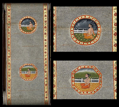 Bhagavata Purana illuminated scroll from 1600s