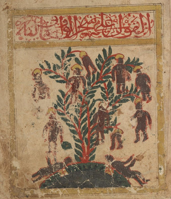 Illustration of waq-waq tree - Arabic folk belief