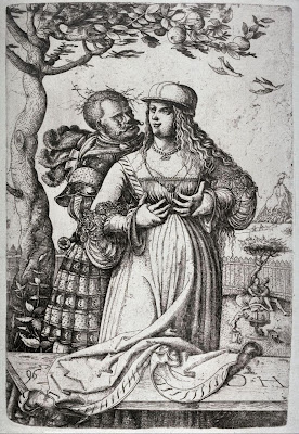 Man embracing a woman - 16th century etching