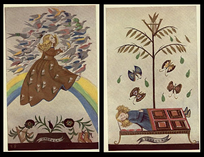 2 Polish kids book images b - Jan Kochanowski 1930 - Treny