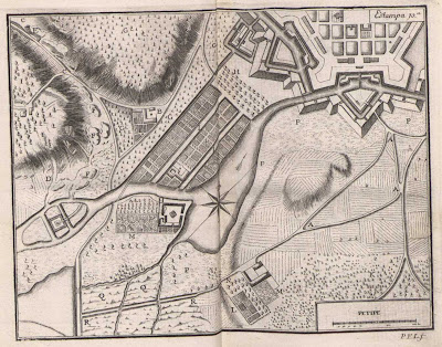 Survey map - Petipe fort 1728