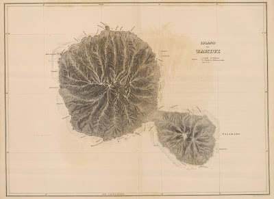 United States Exploring Expedition 1845 - Tahiti map
