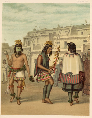 Zuni Pueblo dance 1878 New Mexico