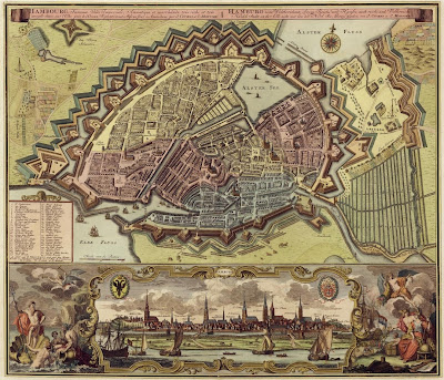 Hamburg map 1730