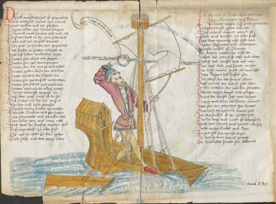 Albrecht von Eyb - The book of Marriage - man in sailing boat