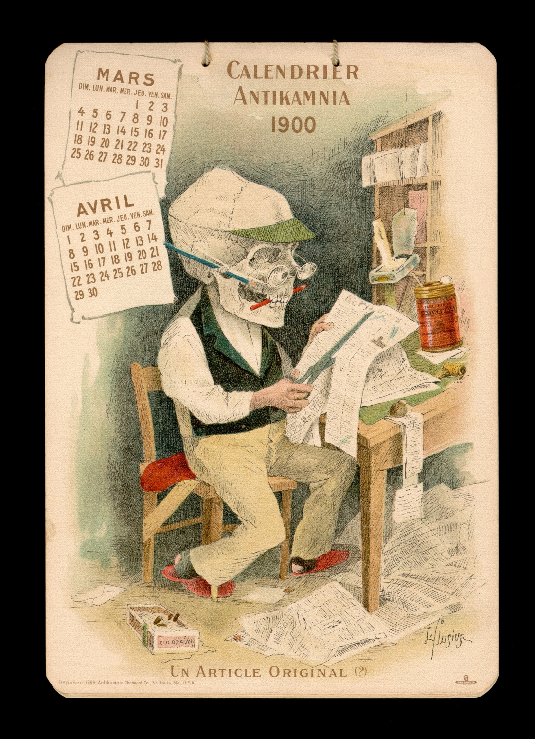 Antikamnia medical calendar 1900