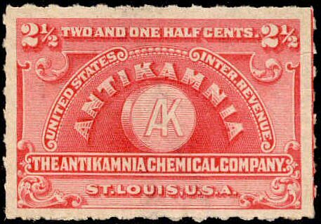 Antikamnia chemical company stamp
